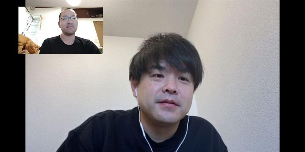 田辺ひゃくいちさんのインタビュー画面