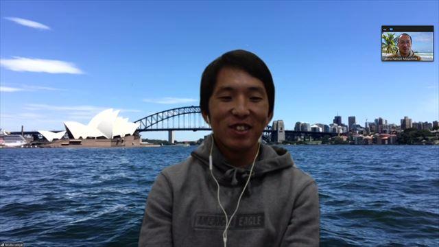 関谷祐さんのインタビュー画面