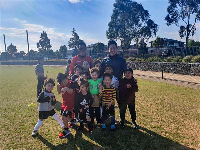 日系の子どもたちを対象としたサッカースクールの様子