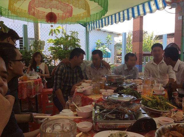ベトナムのホーチミン市郊外にて開かれた結婚式の様子