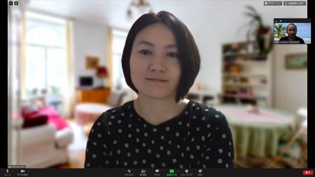 角田さんのインタビュー画面