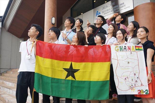 JICA海外協力隊として、ガーナ出発前の集合写真。