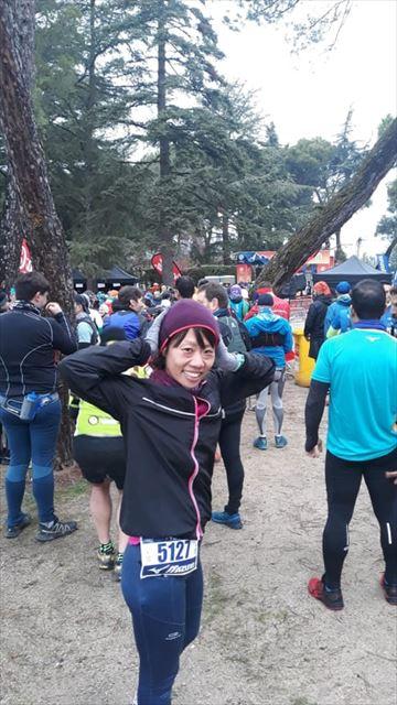 トレイルランニング大会に参加する堀さん